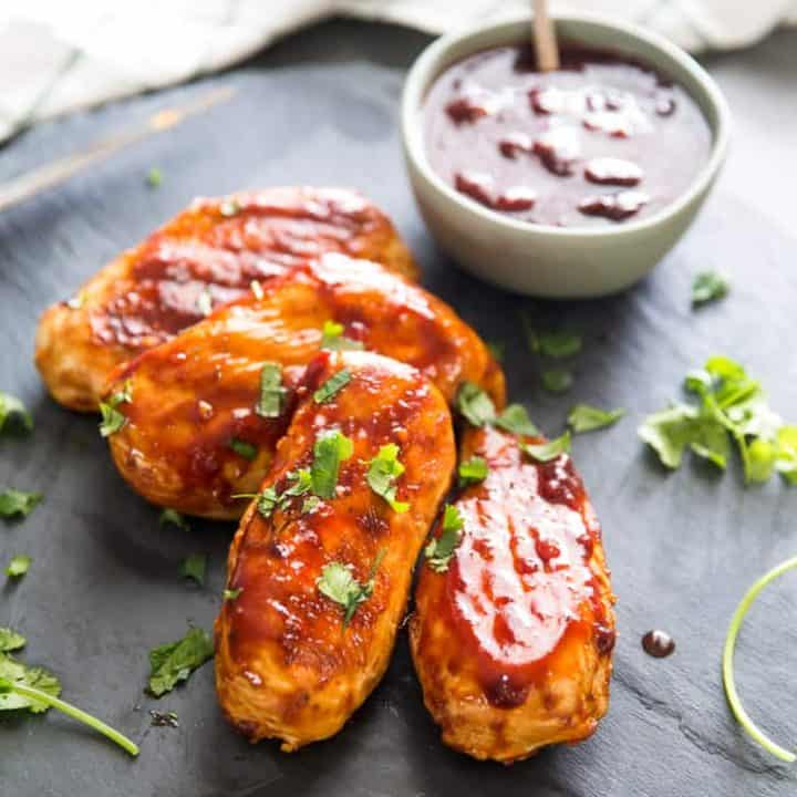 BBQ Chicken with Cherry Chipotle BBQ Sauce