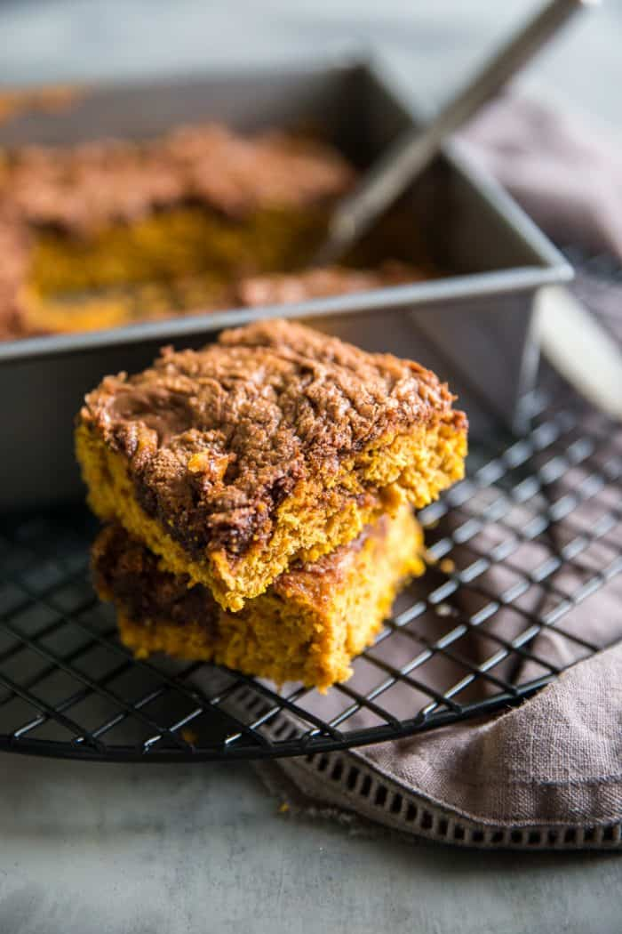 pumpkin bars recipe two stacked
