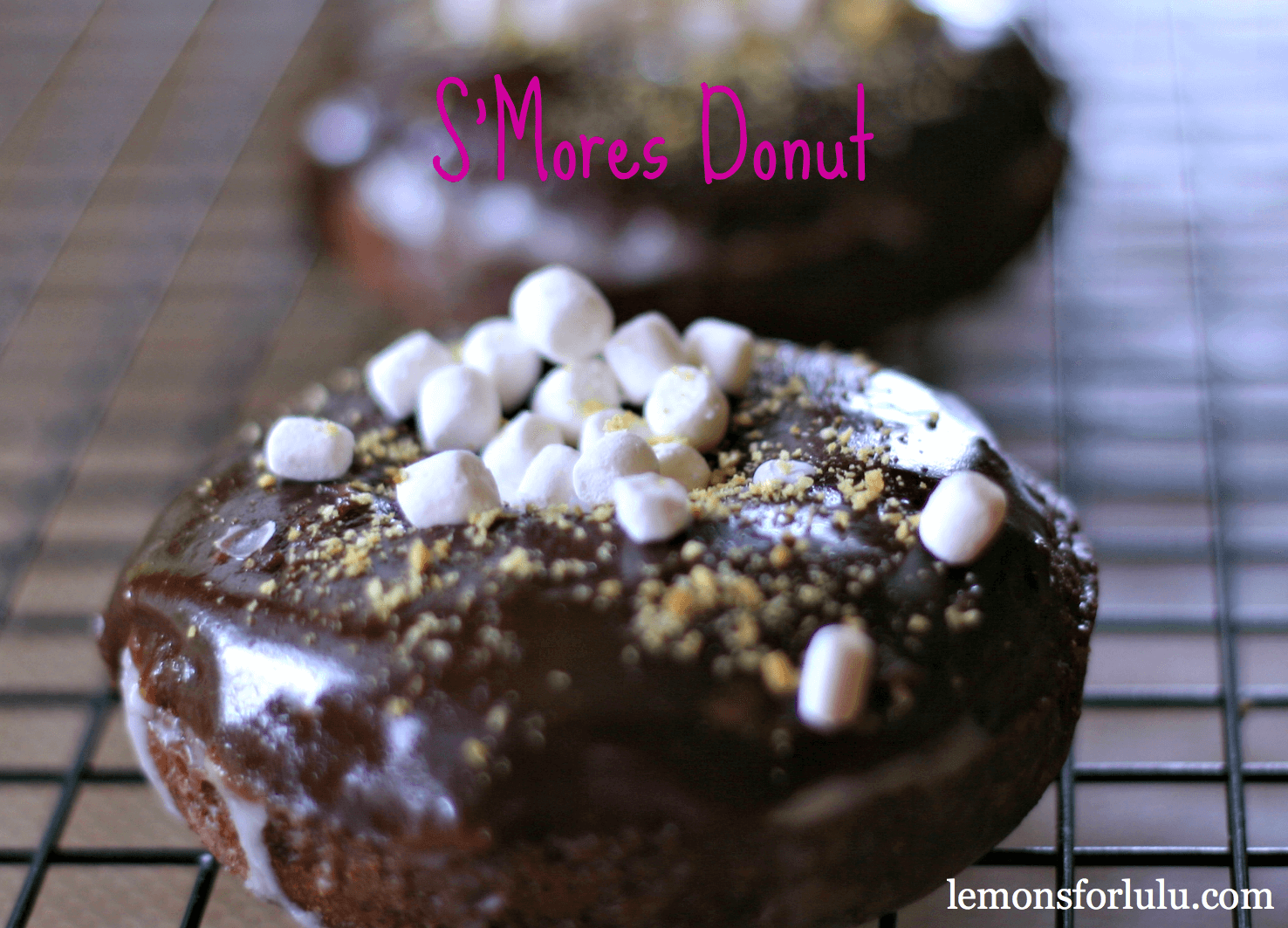 alas i have another s mores donut for you this one is much more ...