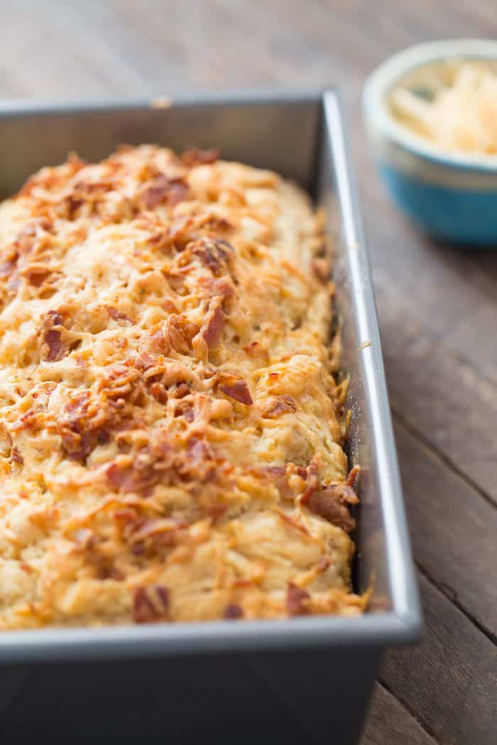Bacon and creamy cheddar are swirled into this fluffy beer bread recipe. This is such a fabulous bread, it will turn into a favorite!