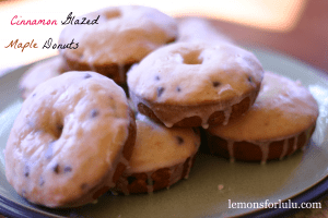 Cinnamon Glazed Maple Donuts