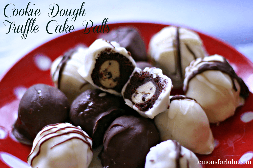 Cookie Dough Truffle Cake Balls