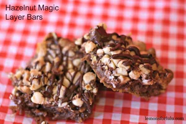 This easy bar features both Nutella and hazelnuts! It just doesn't get better than that! lemonsforlulu.com
