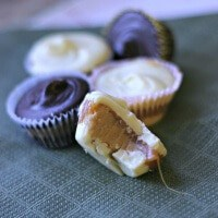 White chocolate and dark chocolate are filled with smooth caramel and creamy peanut butter! You won't be able to eat just one! lemonsforlulu.com
