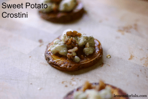 Sweet Potato Crostini www.lemonsforlulu.com