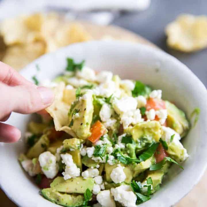 avocado salsa scoop