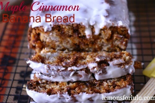 Maple Cinnamon Banana Bread