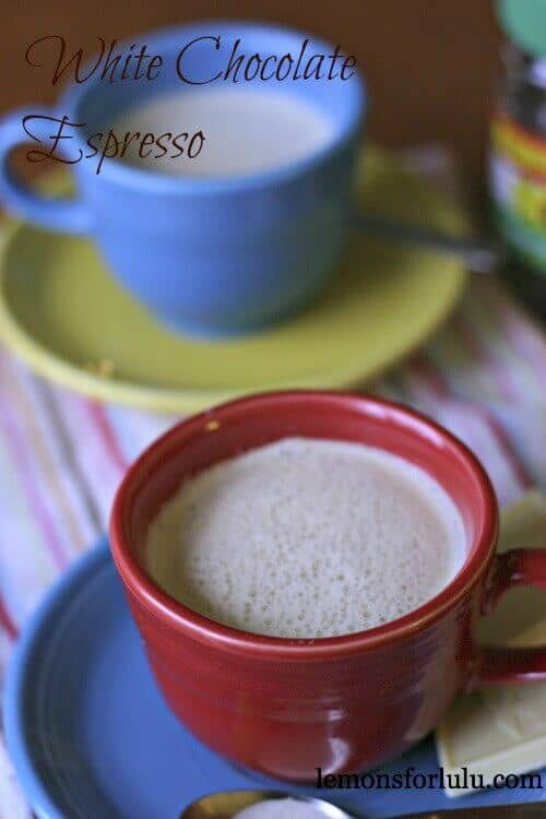 Espresso with creamy white chocolate!  And indulgent treat! lemonsforlulu.com