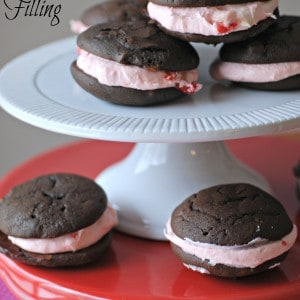 Chocolate Whoopie Pies with Cherry Filling