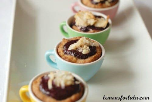 Almond Tassies with Mixed Berry Curd   lemonsforlulu.com
