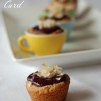 Almond Tassies wtih Mixed Berry Curd