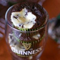 Guinness Black Bottom Mint Cupcakes
