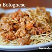 Pasta Bolognese | lemonsforlulu.com