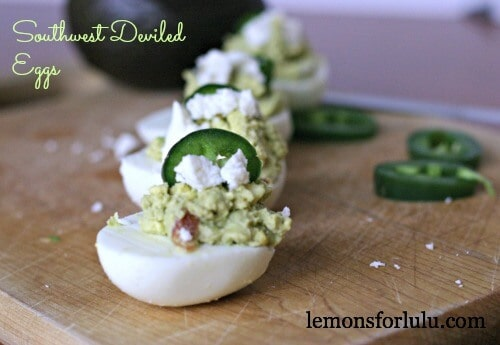 Southwest Deviled Eggs | lemonsforlulu.com