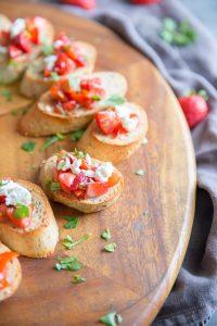 Strawberry Tomato Bruschetta Recipe