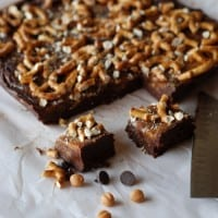Nutella Caramel Pretzel Fudge