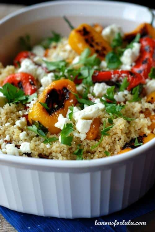 Quinoa with Roasted Peppers | lemonsforlulu.com