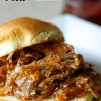 Slow Cooker Bourbon Pulled Pork