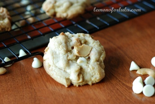 White Chocolate Butterscotch Cashew Cookies