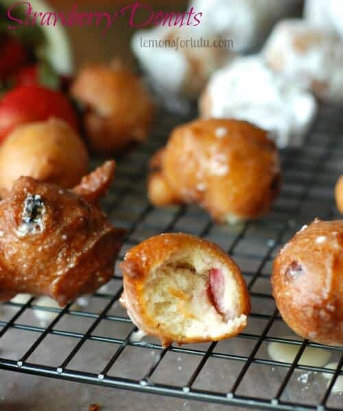 Strawberry Donut Holes