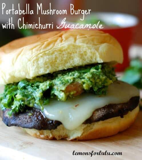Portabella Burgers with Chimichurri Guacamole