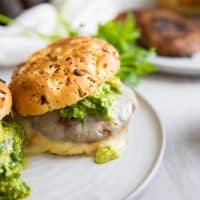 Portobello Mushroom Burgers with Chimichurri Guacamole