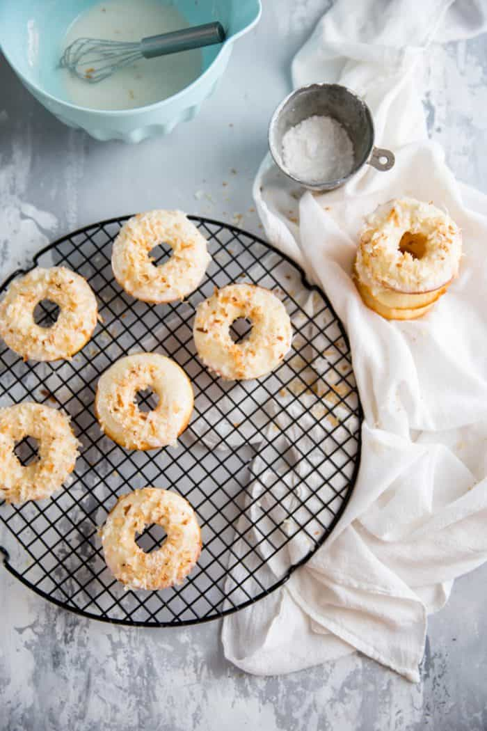 toasted coconut baked donut recipe