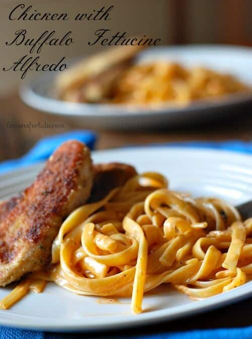 Chicken with Buffalo Fettucine Alfredo