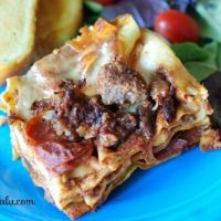 Crockpot Pizza Lasagna