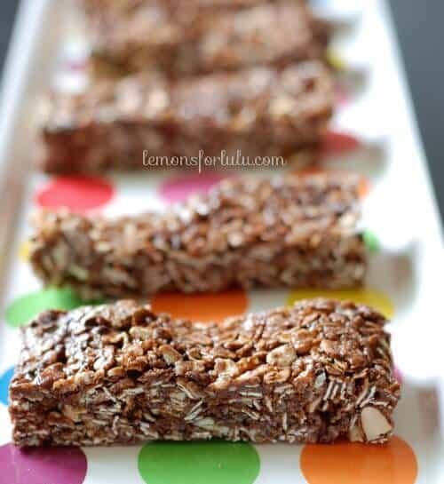 No Bake Nutella Mint Granola Bars - LemonsforLulu.com