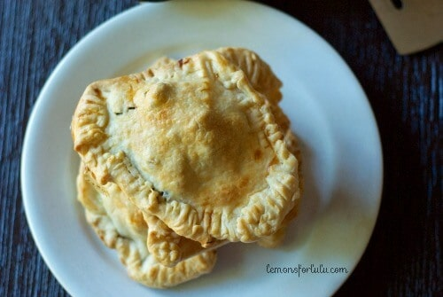 Not all pies are sweet! This Greek flavored, savory hand pie is simple to throw together! www.lemonsforlulu.com