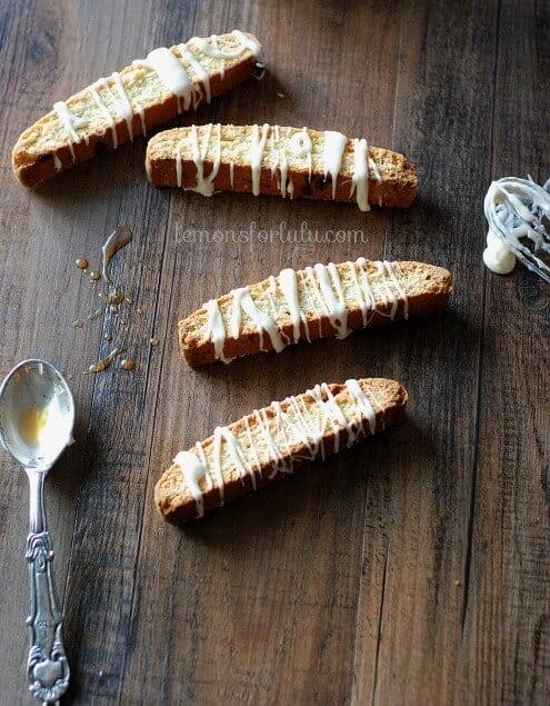 Maple Glazed Biscotti