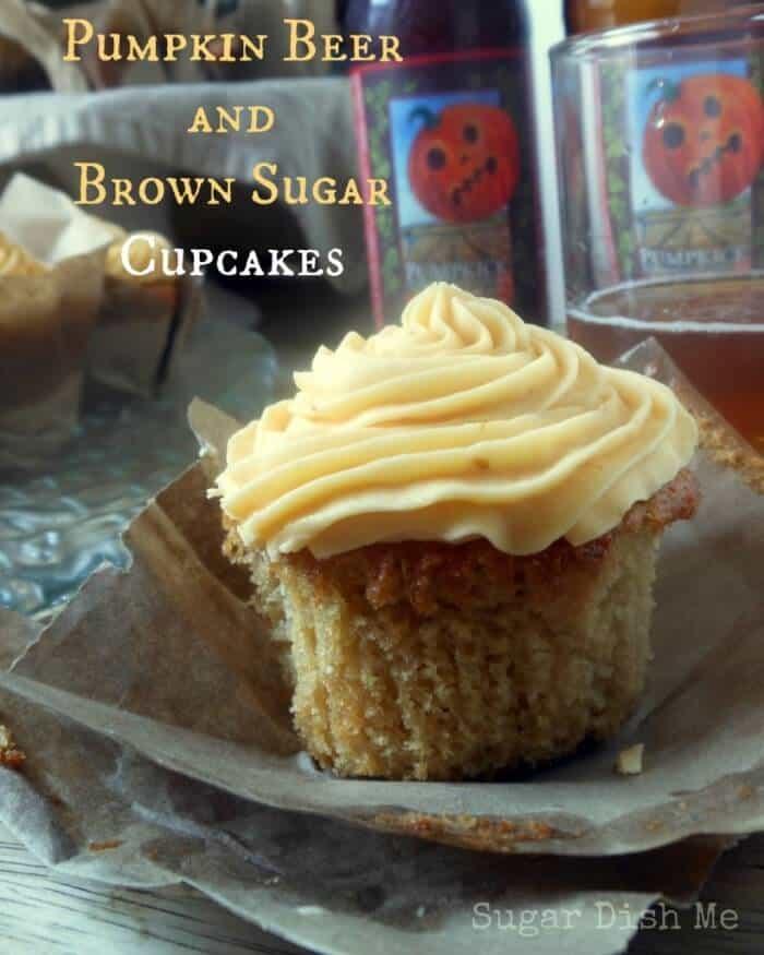 Pumpkin Beer and Brown Sugar Cupcakes www.sugardishme.com