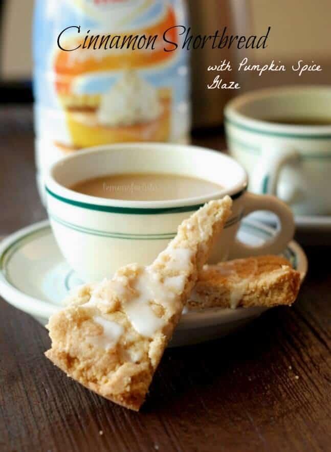 A cinnamon shortbread cookie with a pumpkin spice glaze. www.lemonsforlulu.com #shop