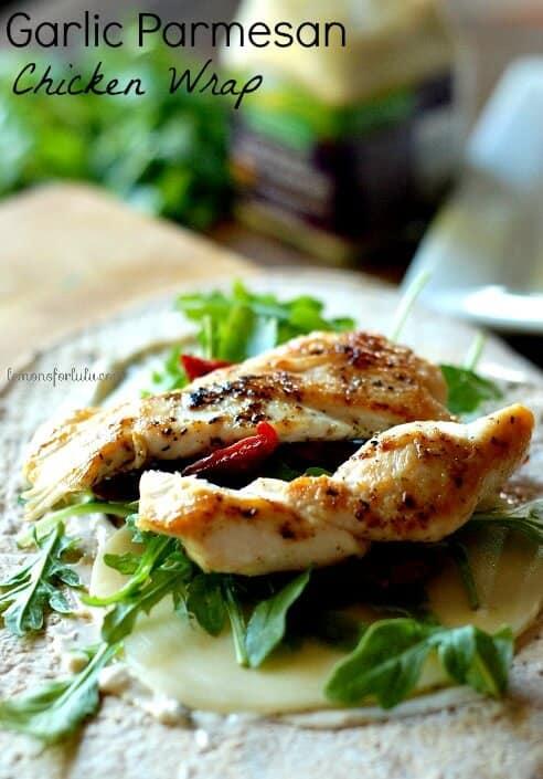 Garlic Parmesan Chicken Wrap 1