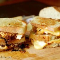 Turkey Melt with Caramelized Onions and Spicy Pumpkin Mayo