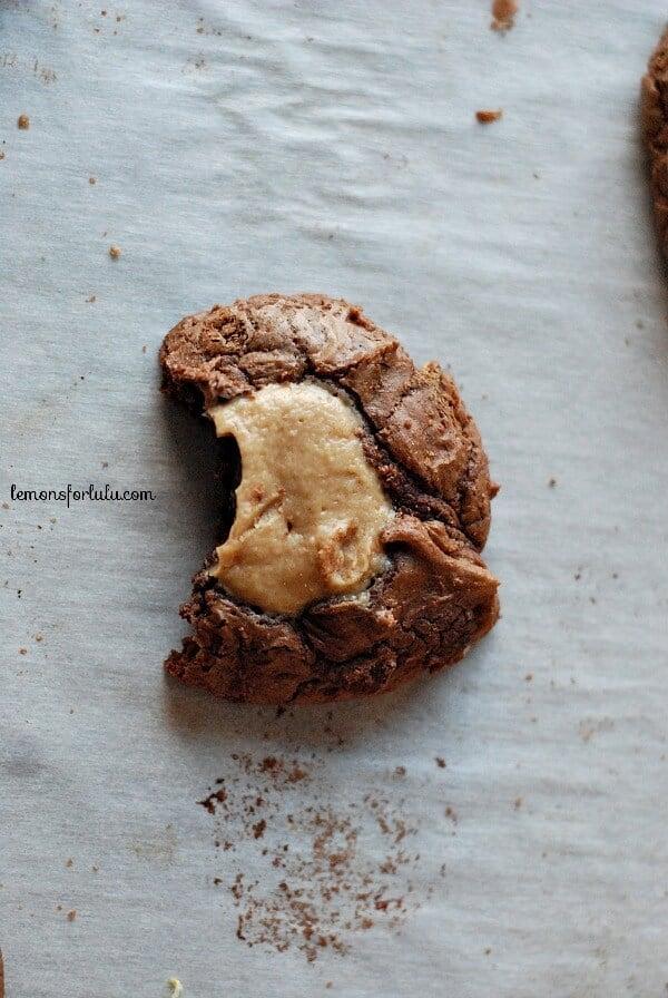 Buckeye Brownie Cookies www.lemonsforlulu.com