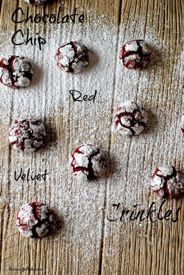 Chocolate Chip Red Velvet Crinkle Cookies and  A Last Minute Christmas Shopping Giveaway!