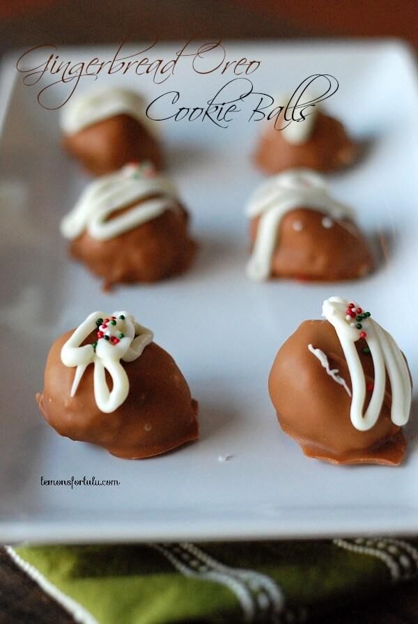 3 ingredient-Gingerbread Oreo Cookie Balls www.lemonsforlulu.com