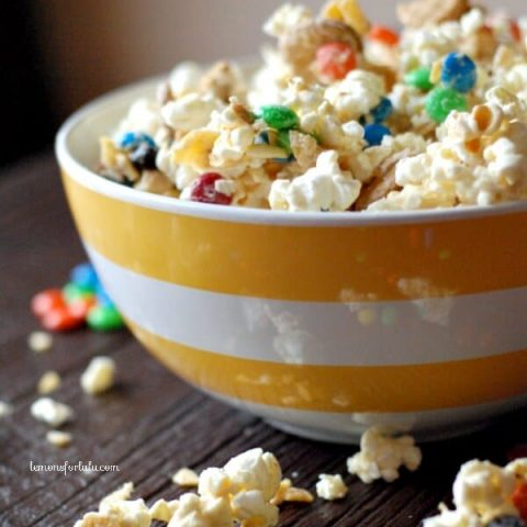 M & M Party Popcorn