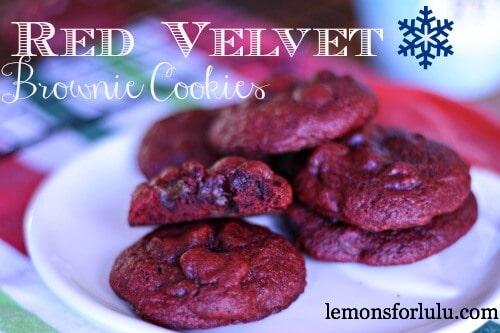 Red Velvet Brownie Cookies