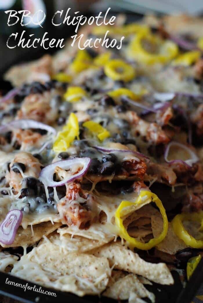 BBQ Chipotle Chicken Nachos #AppetizerWeek #PotsandPans Giveaway!