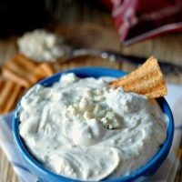 Blue Cheese Ranch Dip | lemonsforlulu.com