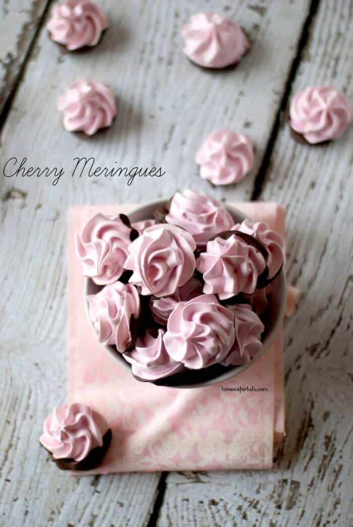 Chocolate Dipped Cherry Meringues Are Light And Airy Cherry Cookies ...