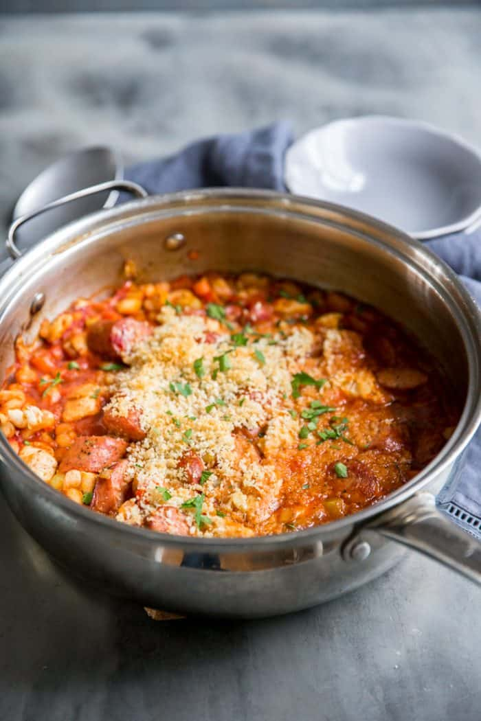cassoulet recipe in a deep skillet