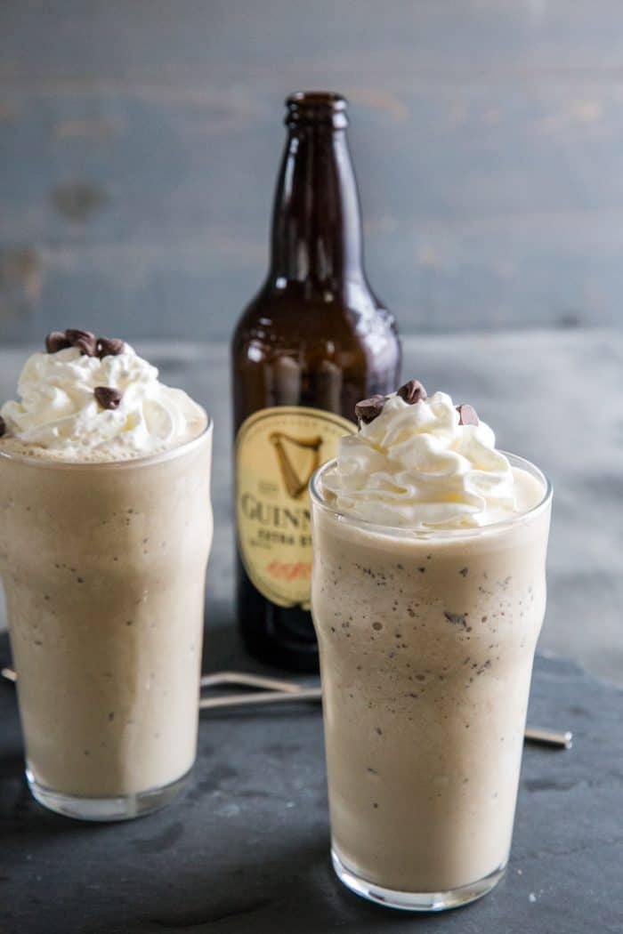 Guinness milkshake two glasses