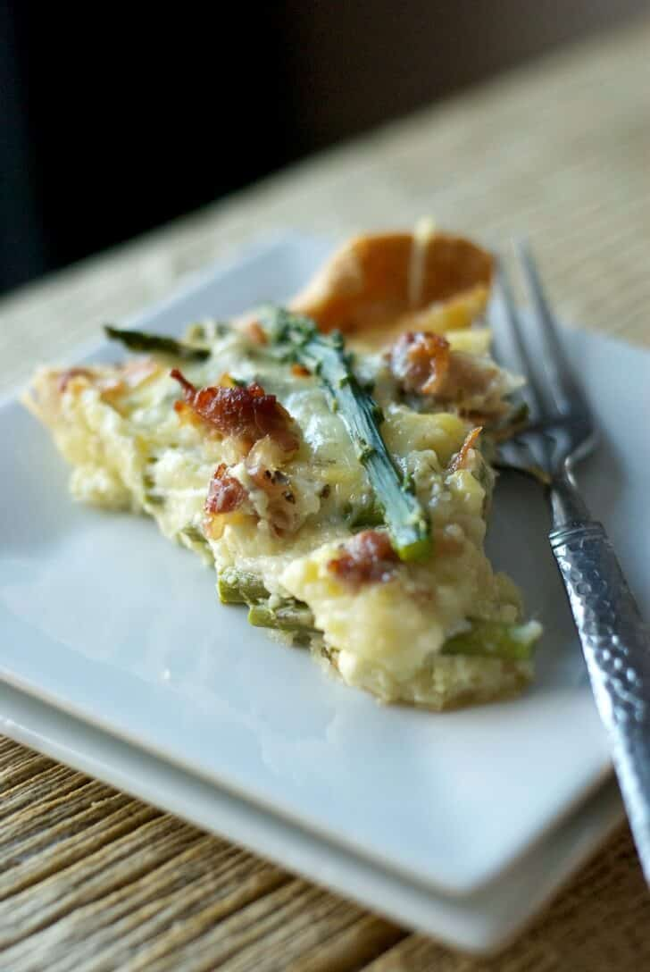 Asparagus and Pancetta Quiche www.lemonsforlulu.com