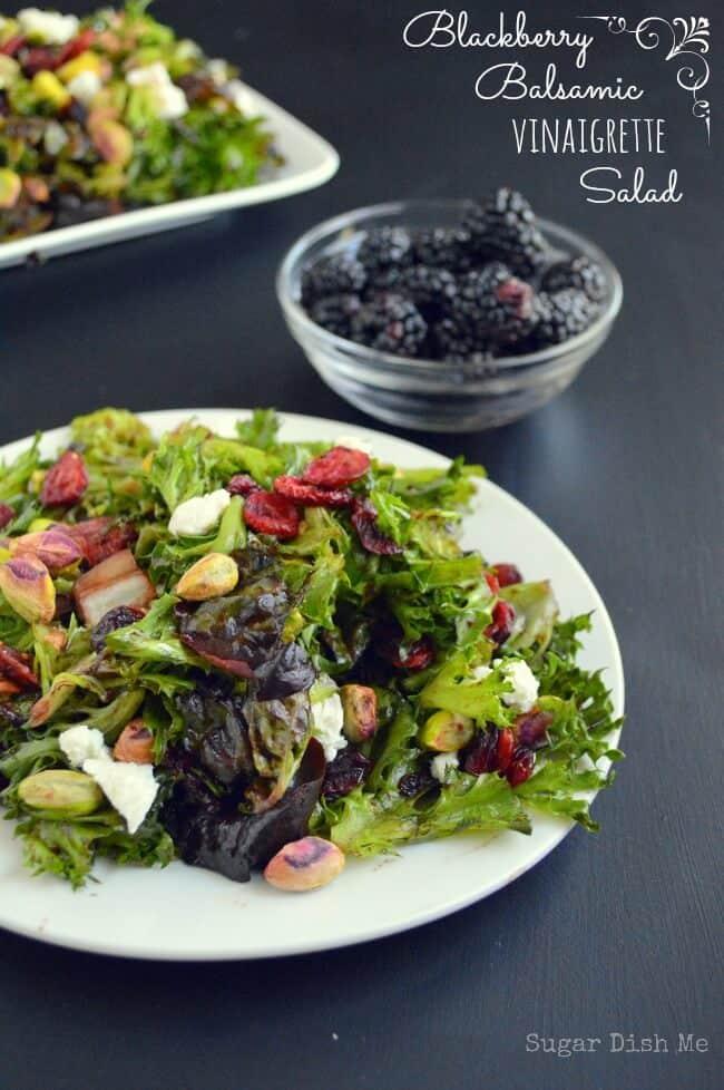 Blackberry-Balsamic-Vinaigrette-Salad-via Sugar Dish Me: Meal Plans Made Simple