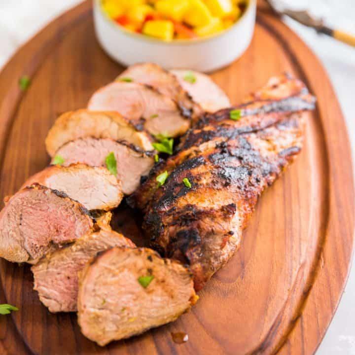 Smoky Pork Tenderloin with Pineapple Mango Salsa