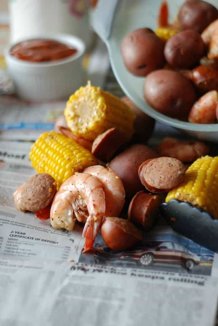 Spicy Shrimp Boil via Lemons for Lulu : Meal Plans Made Simple